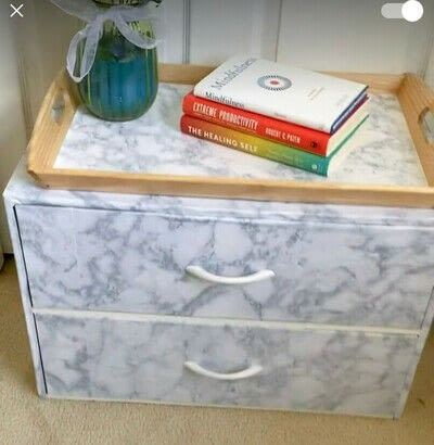 How to make a bedside table. DIY Marble Beside Table - Step 3