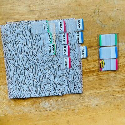 How to make a binder folder. How to Make DIY Planner Dividers - Step 3