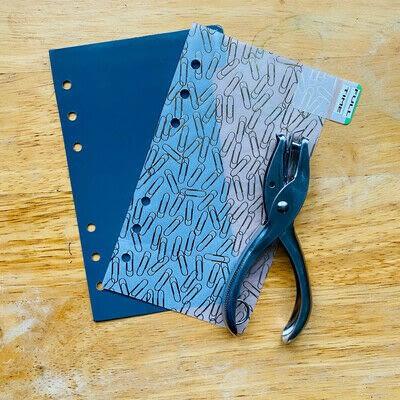 How to make a binder folder. How to Make DIY Planner Dividers - Step 4