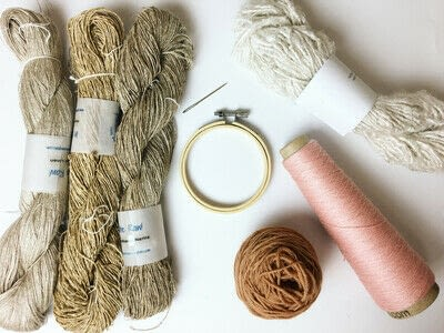 How to make a piece of textile art. Woven Embroidery Hoop - Step 1