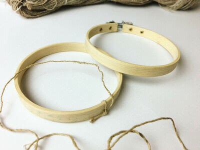 How to make a piece of textile art. Woven Embroidery Hoop - Step 2