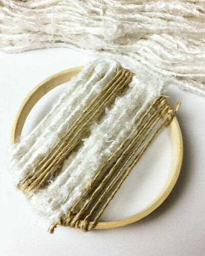 How to make a piece of textile art. Woven Embroidery Hoop - Step 4