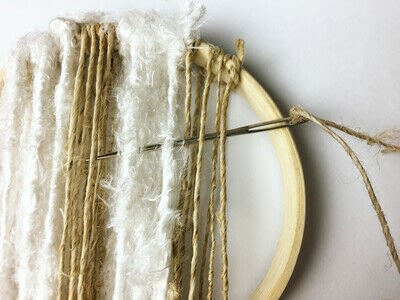 How to make a piece of textile art. Woven Embroidery Hoop - Step 5