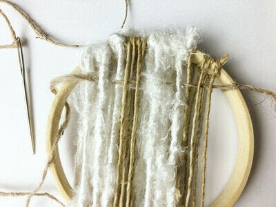 How to make a piece of textile art. Woven Embroidery Hoop - Step 6