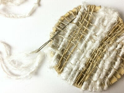 How to make a piece of textile art. Woven Embroidery Hoop - Step 7