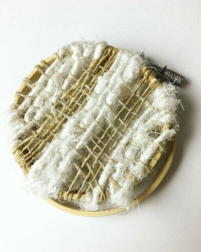 How to make a piece of textile art. Woven Embroidery Hoop - Step 8