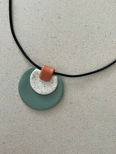 How to sculpt a clay shape necklace. Polymer Clay Pendant Necklace - Step 9