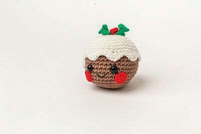 How to make a food plushie. Amigurumi Christmas Pudding - Step 6