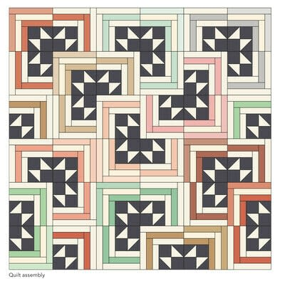 How to make a patchwork quilt. Smart Cookie Quilt - Step 20