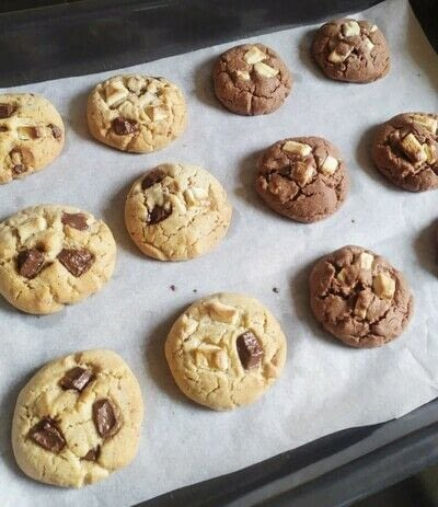 How to bake a chocolate chip cookie. Cookies - Step 3
