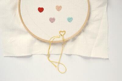 How to make a Peter Pan collar. Heart Collar - Step 2