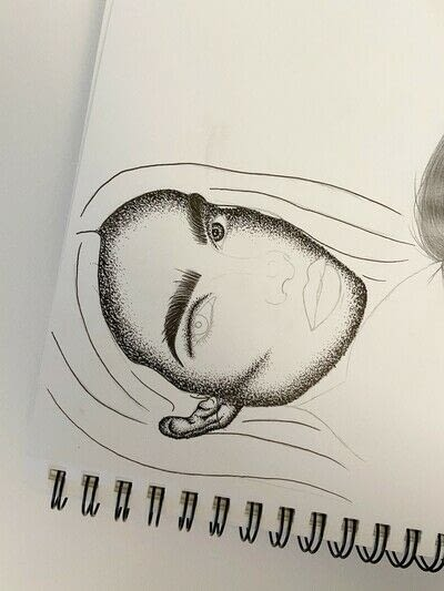 How to create a portrait. How To Draw A Pointillism Portrait  - Step 5