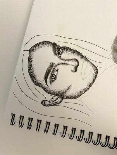 How to create a portrait. How To Draw A Pointillism Portrait  - Step 6