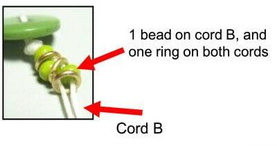 How to bead a woven bead bracelet. Bead & Ring Wrap Bracelet - Step 4