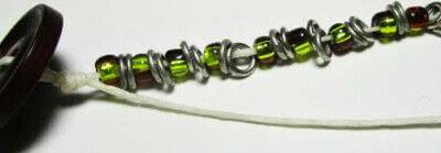 How to bead a woven bead bracelet. Bead & Ring Wrap Bracelet - Step 6