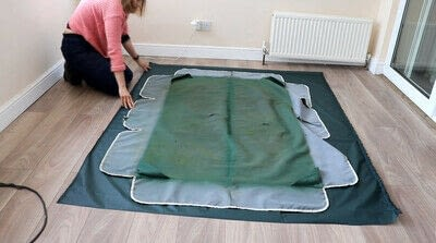 How to make a tents & teepees. Sewing a Swing Chair Canopy Replacement - Step 1