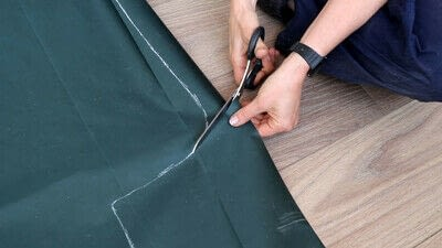 How to make a tents & teepees. Sewing a Swing Chair Canopy Replacement - Step 3