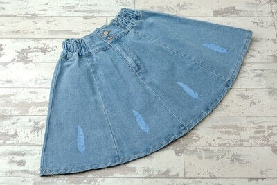 How to paint a painted skirt. Feather Print Skirt - Step 17