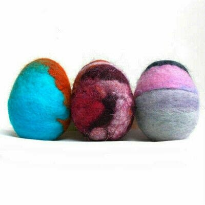How to make a misc. Wool Felted Easter Eggs (Easy Beginner Felting Project) - Step 7
