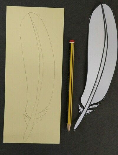 How to cut a piece of papercutting. Paper Feathers - Step 1