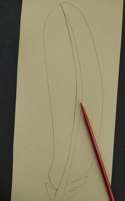 How to cut a piece of papercutting. Paper Feathers - Step 2