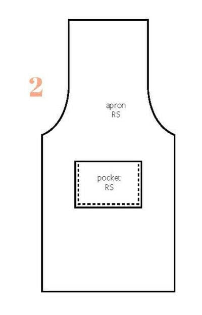 How to sew a piece of doll clothing. Barbie Apron - Step 2