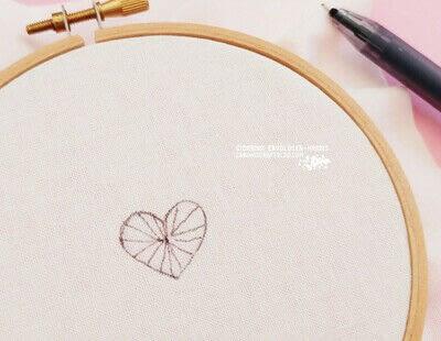 How to stitch . Buttonhole Heart Stitch Tutorial - Step 1