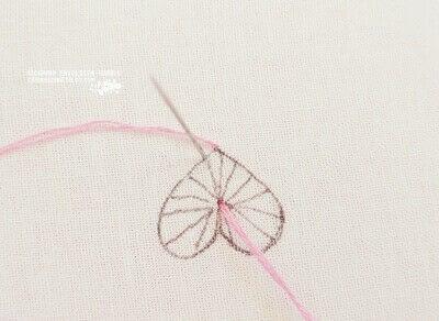 How to stitch . Buttonhole Heart Stitch Tutorial - Step 3