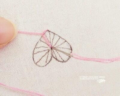 How to stitch . Buttonhole Heart Stitch Tutorial - Step 4