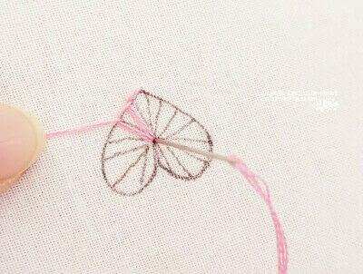 How to stitch . Buttonhole Heart Stitch Tutorial - Step 5