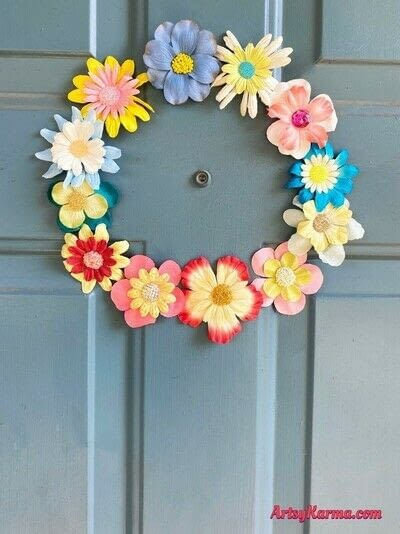 How to make a piece of seasonal decor. How To Use Fake Flowers To Decorate For Spring - Step 5