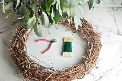 How to make a wreath. Diy Eucalyptus Wreath Tutorial - Step 1