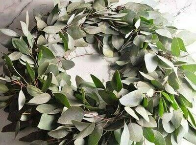 How to make a wreath. Diy Eucalyptus Wreath Tutorial - Step 7