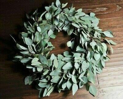How to make a wreath. Diy Eucalyptus Wreath Tutorial - Step 8