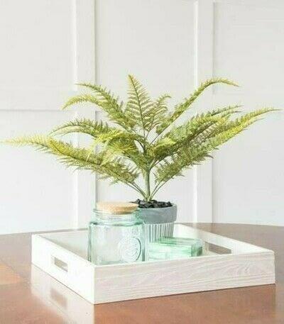 How to plant a plant / a flower / a tree. Diy Faux Fern Arrangement - Step 13