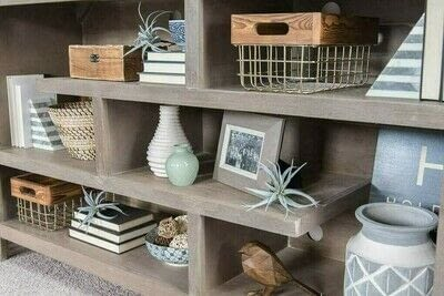How to make a bookcase / cubby. How To Style Bookshelves - Step 1