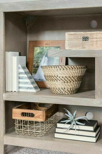 How to make a bookcase / cubby. How To Style Bookshelves - Step 9