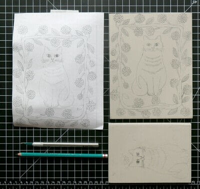 How to create a drawing or painting. Two Color Block Print - Step 3