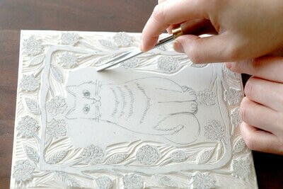 How to create a drawing or painting. Two Color Block Print - Step 4