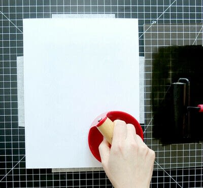 How to create a drawing or painting. Two Color Block Print - Step 10