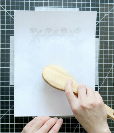 How to create a drawing or painting. Two Color Block Print - Step 13