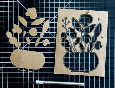 How to create a drawing or painting. Mosaic Effect Block Print - Step 5