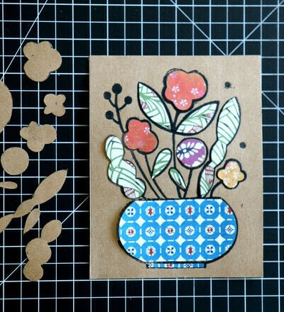 How to create a drawing or painting. Mosaic Effect Block Print - Step 6