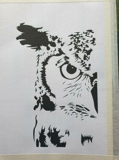 How to cut a piece of papercutting. 1. The Owl - Step 1