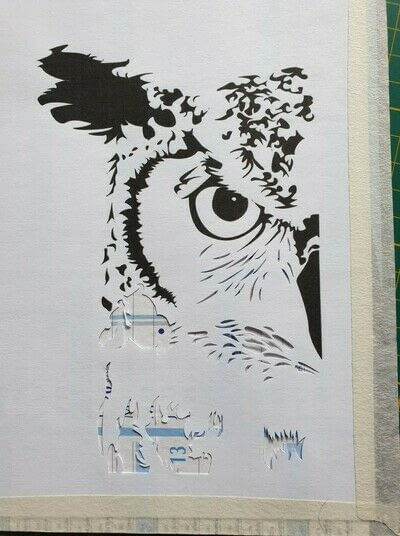 How to cut a piece of papercutting. 1. The Owl - Step 2