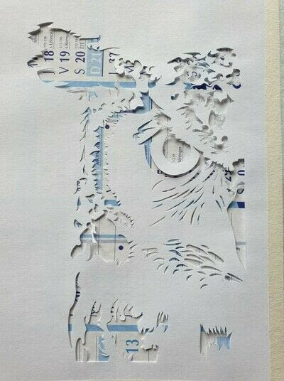 How to cut a piece of papercutting. 1. The Owl - Step 3