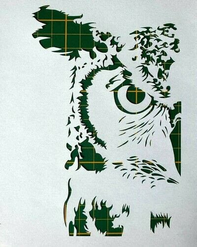 How to cut a piece of papercutting. 1. The Owl - Step 4