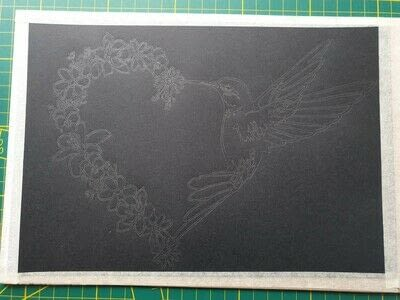 How to cut a piece of papercutting. 5. Humming Heart - Step 1