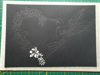 How to cut a piece of papercutting. 5. Humming Heart - Step 2