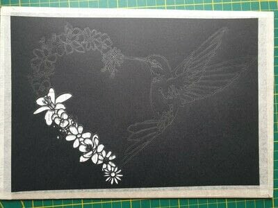 How to cut a piece of papercutting. 5. Humming Heart - Step 3